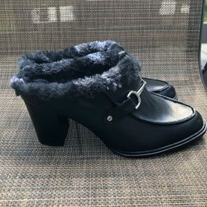 Aerosole's Women's Fur Slip On Heels